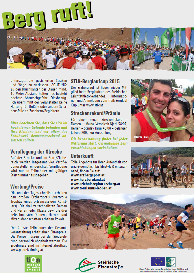 Formulari d'inscripció per l'Erzberglauf 2015